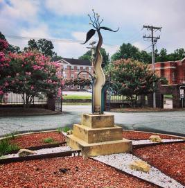 Sculpture at old Lenoir High School